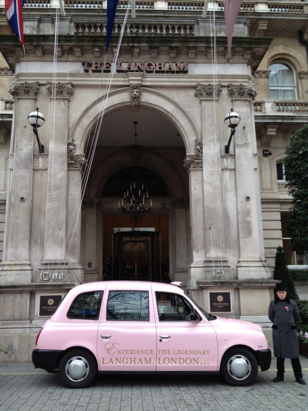 Langham Hotel Full Livery Taxi