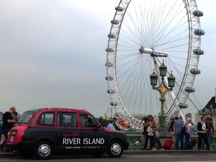 River-Island-Taxi-Advertising - London