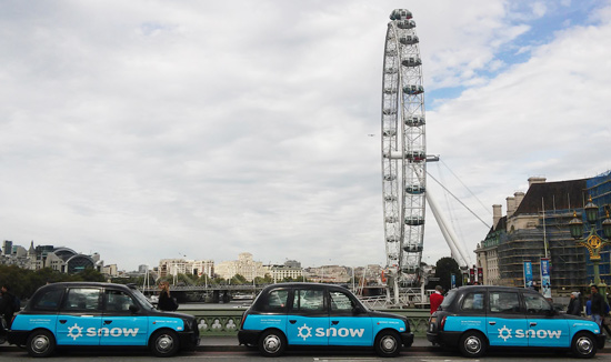 Snow Software taxi campaign with Transport Media