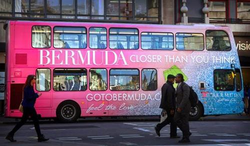 Bermuda Tourism Bus Advertising London Full Wrap