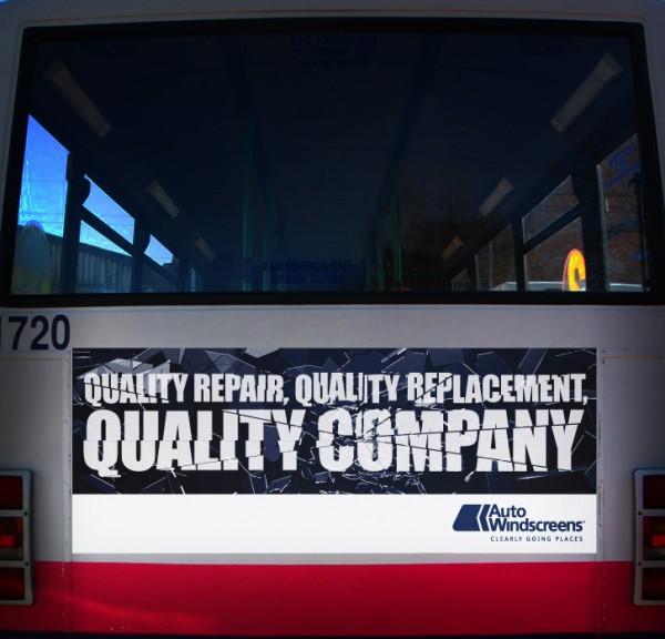 Auto windscreens - Bus Rear Panel