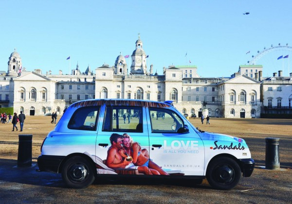 Sandals & Beaches UK Taxi Advertising