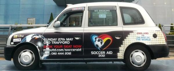 Transport Media - ITV Soccer Aid - Taxi Superside