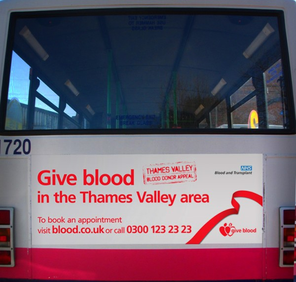 Give Blood Bus campaign