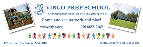 Virgo Prep School bus advert