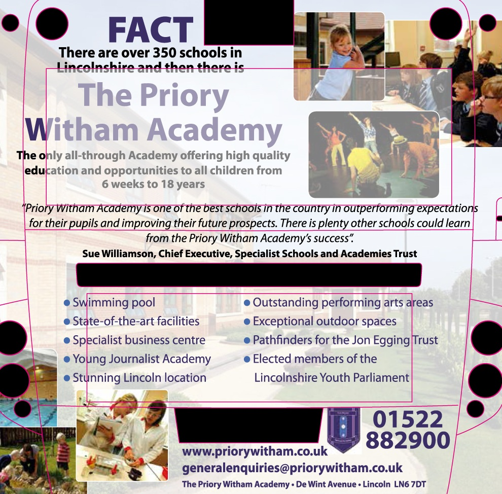 Priory Witham Academy - Mega Bus Rear