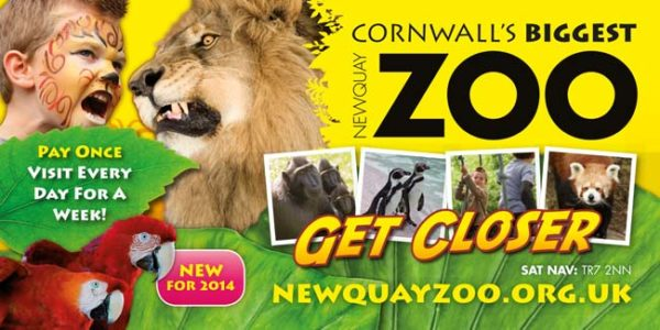 Newquay Zoo Static Trailer Avertising Campaign