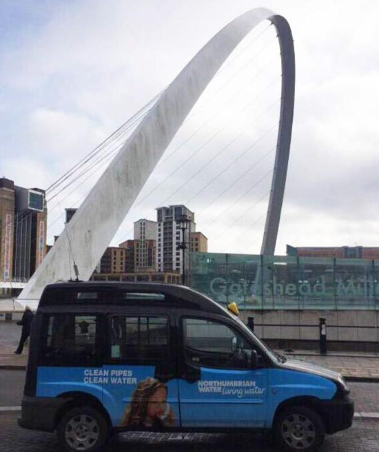 Northumbrian Water Taxi Superside Millenium Bridge