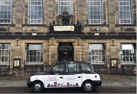 Wirral Council Taxi Advertisement