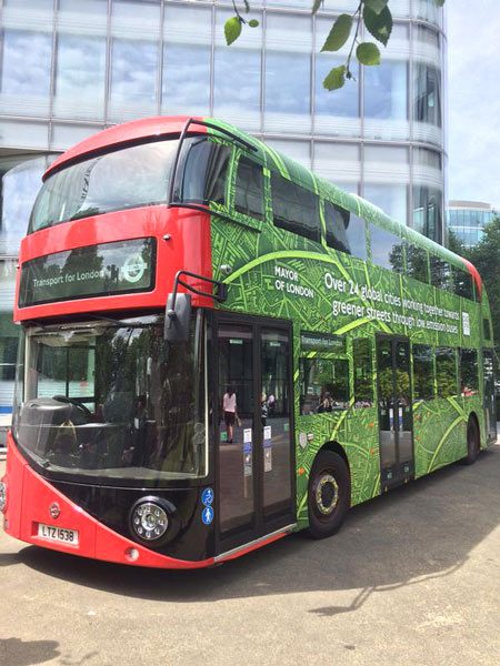London Low Emission E-Bus Boris Johnson ULEZ TfL