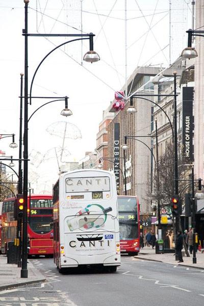 London Bus Advertising Mega Rear