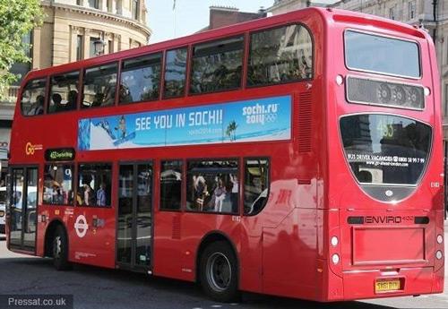 Sochi 2014 Winter Olympics London Bus Advertising Superside